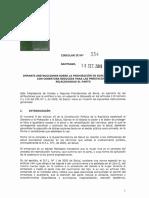 La circular del Ministerio de Salud