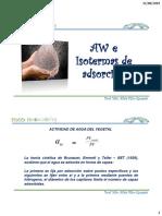 Aw e Isotermas de Adsorción 140819