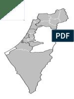 Mapa de Israel Palestina