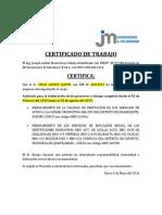 Certificado de Trabajo Jm Cesar Quispe (Cesarin Ducho)