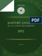 Rapport Annuel de La Cour Des Comptes, 2012 (Version Française) - Global