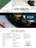 Sip Awards 2018 Results