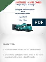 Diesel Generator and PM