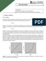 Practica Nø2 Fisica II - Ley de Ohm
