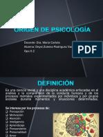 Origen de Psicología