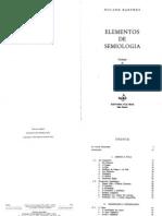 Elementos de Semiologia [Roland Barthes]