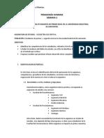 Plan de Formación Para Estudiantes de Primer Nivel en La Universidad Industrial de Santanter