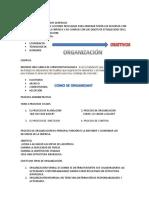 Organización en Terminos Generales