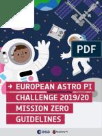 Astro Pi Mission Zero Guidelines 2019 20 English