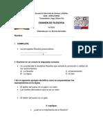 Examen Filosofia IV Ciclo