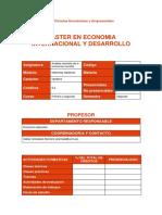 2017-18 Arrizabalo, PTE Ficha Guía Docente Análisis Marxista de La Economía Mundial, 2017-18