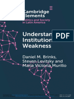 Understanding Institutional Weakness