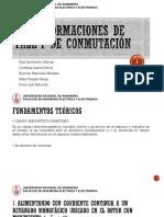 Transformaciones de Fase y de Conmutación
