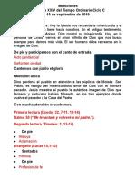 Moniciones Domingo XXIV Tiempo Ordinario Ciclo c 2019