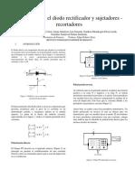 El diodo rectificador y sujetadores- recortadores