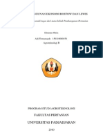 Teori Pembangunan Rostow, Lewis Terhadap Indonesia