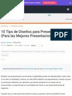 10 Tips de Diseños para Presentaciones (Para las Mejores Presentaciones)