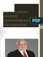 The Top 4 Most Admired Entreprenuers of The