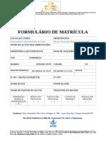 Formulário de Matrícula Pra. Rose
