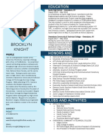 brooklyn knight academic resume sept 2019