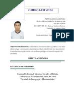 Curriculum Pedro