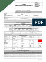 Formato de Inspeccion de Puesto de Trabajo Oficina