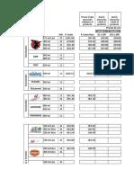 Análisis de precios 2 reporte