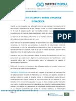 SF Documento de Apoyo Sobre Variable Didactica