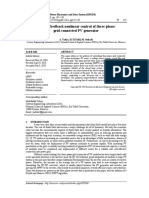 Output feedback nonlinear control of three-phase grid-connected PV generator