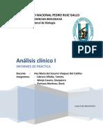1er Informe Analisis Clinico I