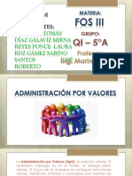 Administración Por Valores