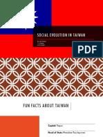 Social Evolution in Taiwan