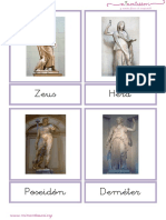 Dioses Griegos Letra Ligada