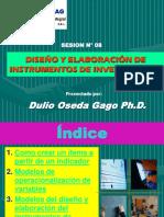 SESION N° 08 - DISEÑO Y ELABORACION DE INSTRUMENTOS DE INVESTIGACION