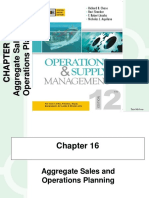 Aggregate Sales and Op Planning