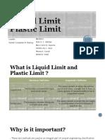 Liquid Limit and Plastic Limit