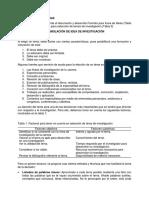 A1 Idea Principal para investigación