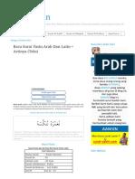 Baca Surat Yasin Arab Dan Latin Artinya
