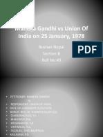 Maneka Gandhi vs Union of India