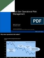 Next Gen Operational Risk Management