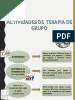 Actividades de Terapia Grupo