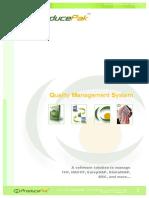 ProducePak Quality Management System
