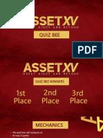 Asset Xv Quiz Bee