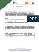 Ciclo de Cursos Metodos Cuantitativos Orientados a Las Problemáticas Territoriales