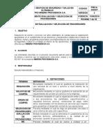 Procedimiento Evaluación y Seleccion de Proveedores