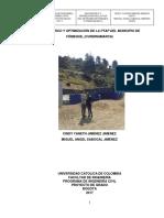 Diagnóstico y Optimización de La Ptap Del Municipio De