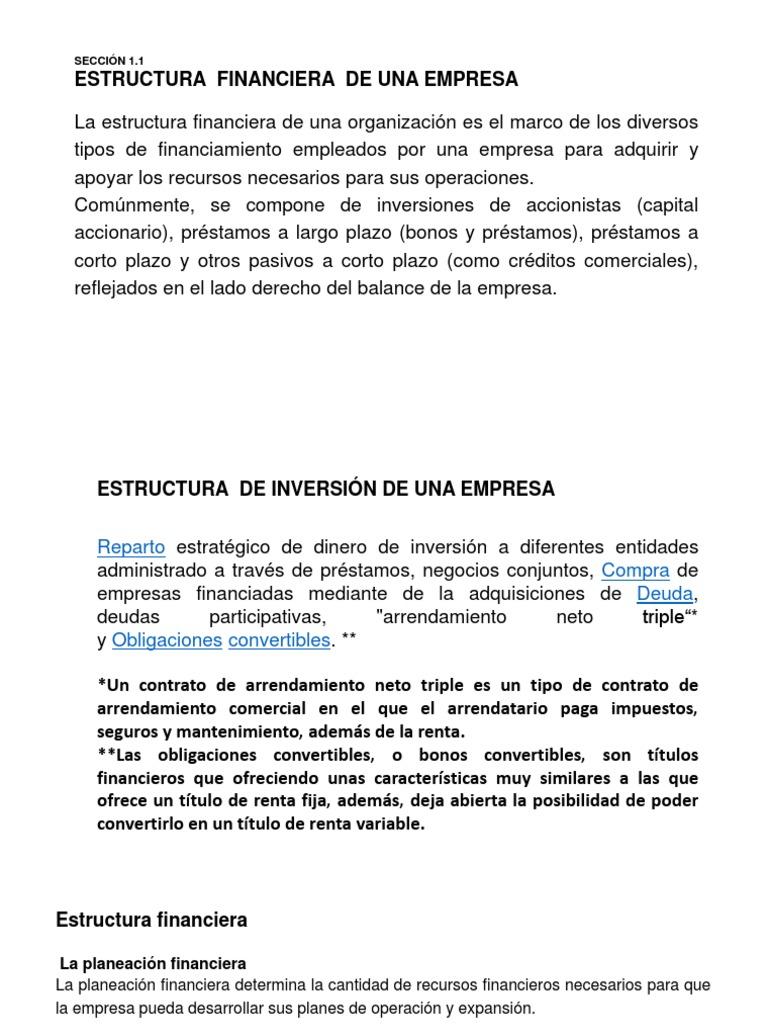 2 Estructura Financiera E Inversion 1 Pptx Capital De