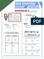 División de Números Enteros Para Primero de Secundaria