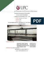 Informe de Laboratorio Nº 1 Hidraulica de Canales