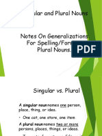 Singular & Plural